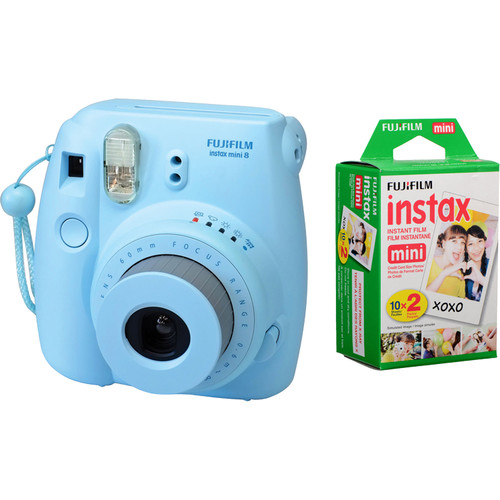 FujiFilm Instax Mini 8 blauw + colorfilm glossy 10x2 pak