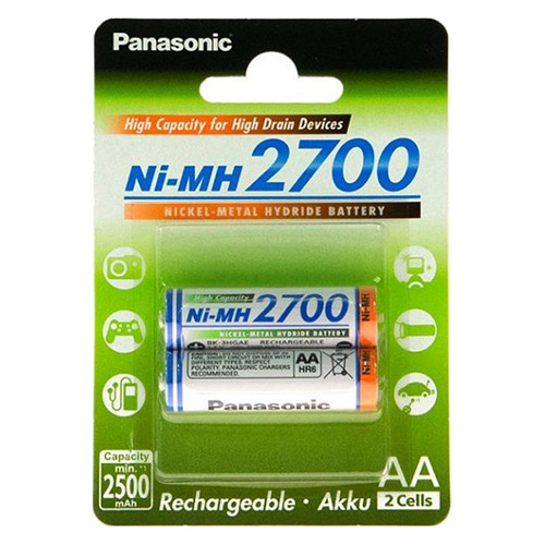 Image of 4 x AA Panasonic batterijen - 2700mAh