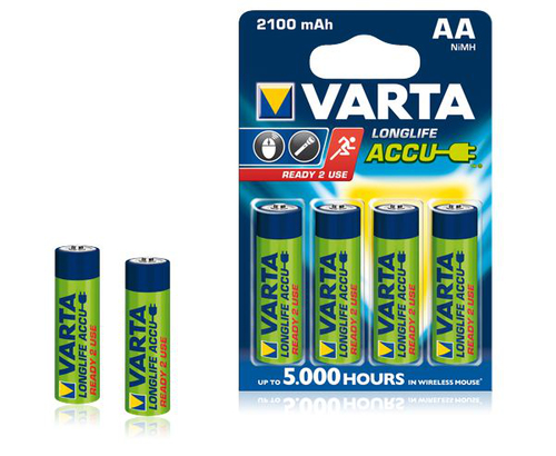 Image of 4 x AA Varta Ready2use batterijen - 2100mAh
