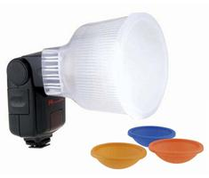 Image of Falcon Eyes D4 Diffuser Cup + kleurenfilters