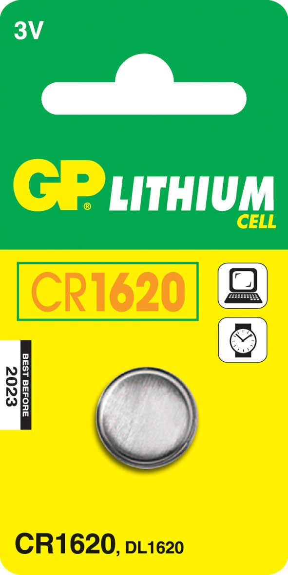 GP Batteries Lithium Cell CR1620