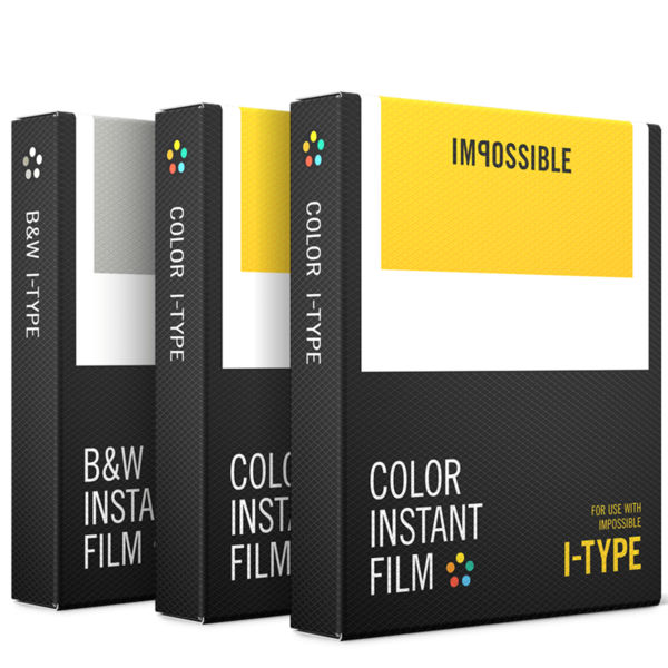 Image of 1x3 Impossible I-type film (2x color, 1x b&w)