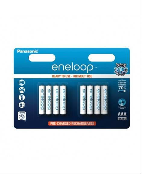 Image of 1x8 Panasonic Eneloop Micro AAA 750 mAh
