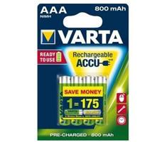 Image of 1x2 Varta Rechargeable Accu AAA Ready2Use NiMH 800 mAH Micro