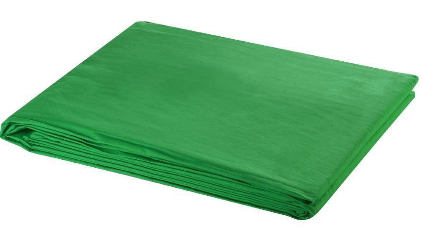 Bresser Y-9 Uitwasbaar Achtergrond Doek 3x6m Chromakey Groen
