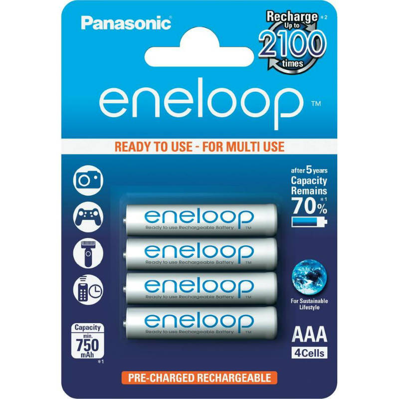 Image of 1x4 Panasonic Eneloop Micro AAA 750 mAh + Accubox