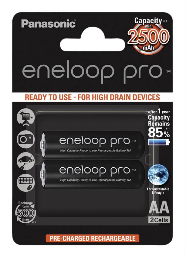 Image of 1x2 Panasonic Eneloop Pro Mignon AA 2500mAh