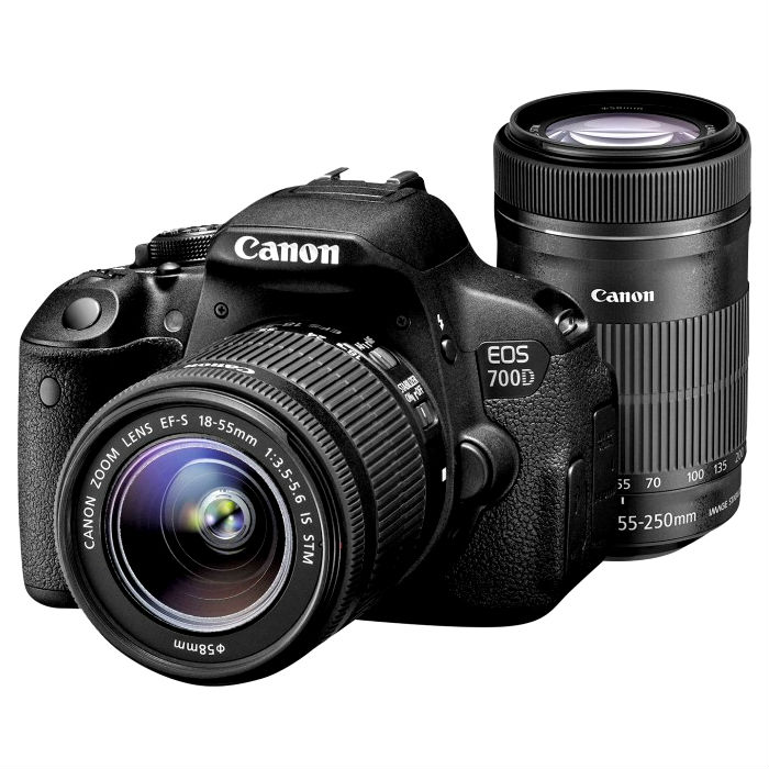 Image of Canon EOS 700D + 18-55mm iS STM + 55-250mm iS STM